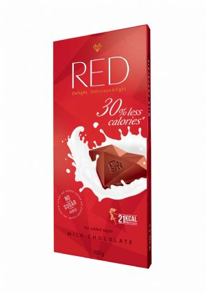Red Sugar Free Milk Chocolate Bar